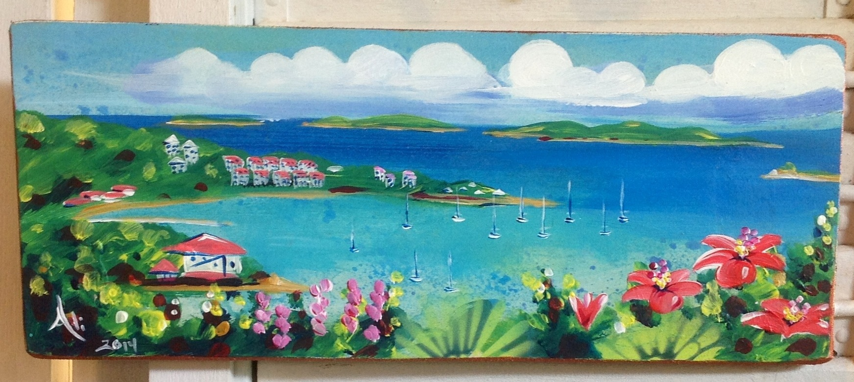St John Usvi Artwork on beachy decor